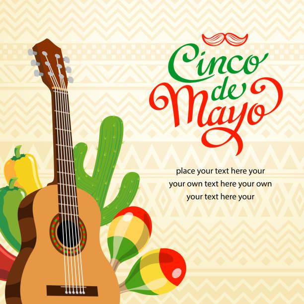 bildbanksillustrationer, clip art samt tecknat material och ikoner med feliz cinco de mayo invitation - latino music