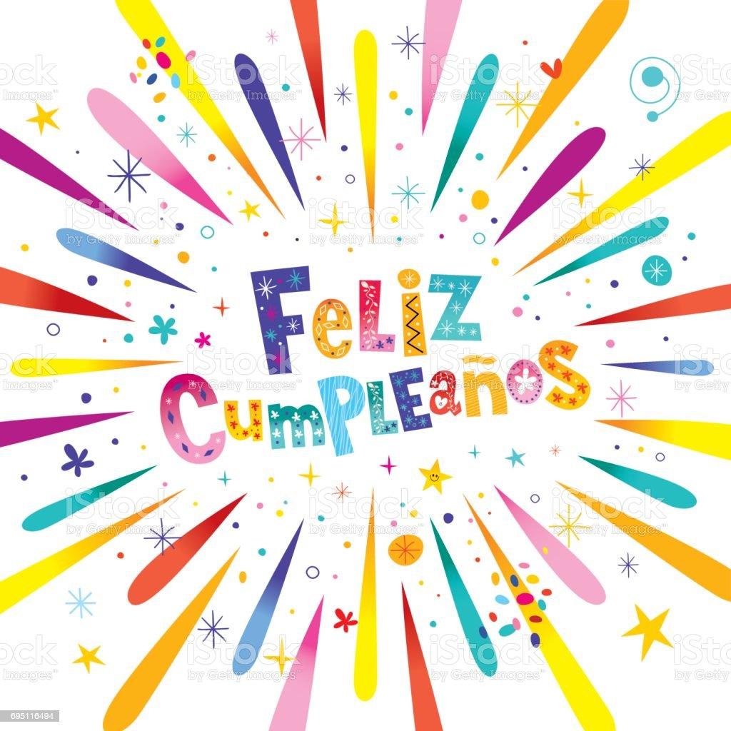 Feliz Cumpleanos Happy Birthday In Spanish Card Stock