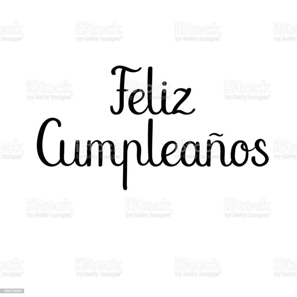 Feliz Cumpleanos Happy Birthday Auf Spanisch Moderne Kalligraphie