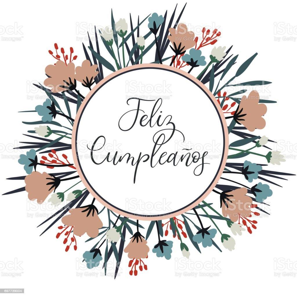 Feliz Cumpleanos Gelukkige Verjaardag In Het Spaans Moderne