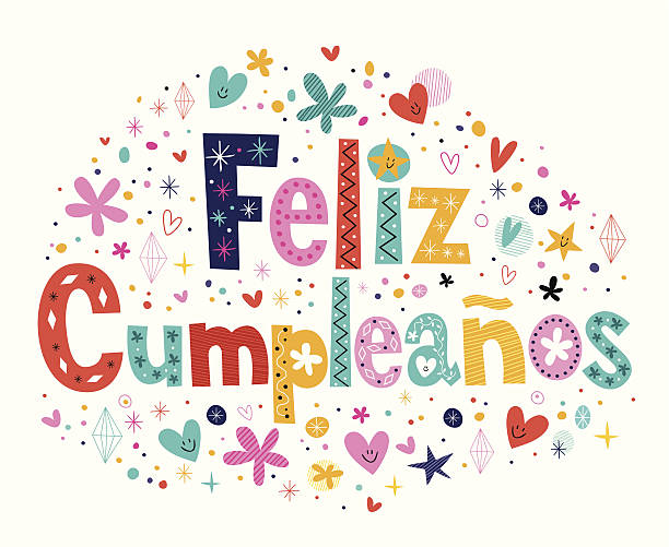 Best Feliz Cumpleanos Happy Birthday Spanish Text Illustrations