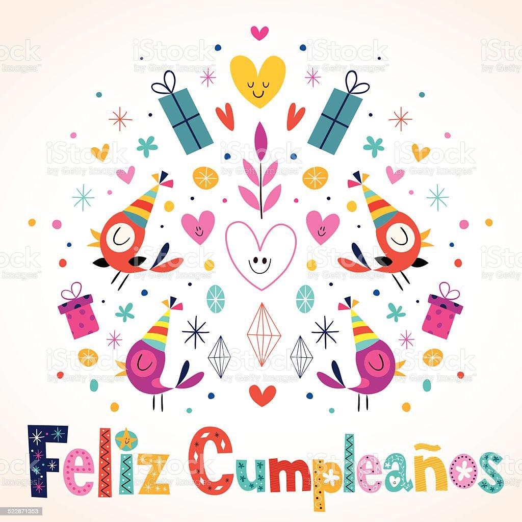 Feliz Cumpleanos Happy Birthday Stock Vector Art More Images Of