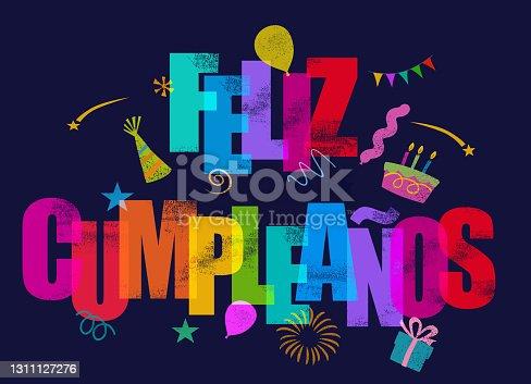 istock Feliz Cumpleaños - Happy Birthday in Spanish 1311127276