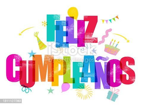 istock Feliz Cumpleaños - Happy Birthday in Spanish 1311127283