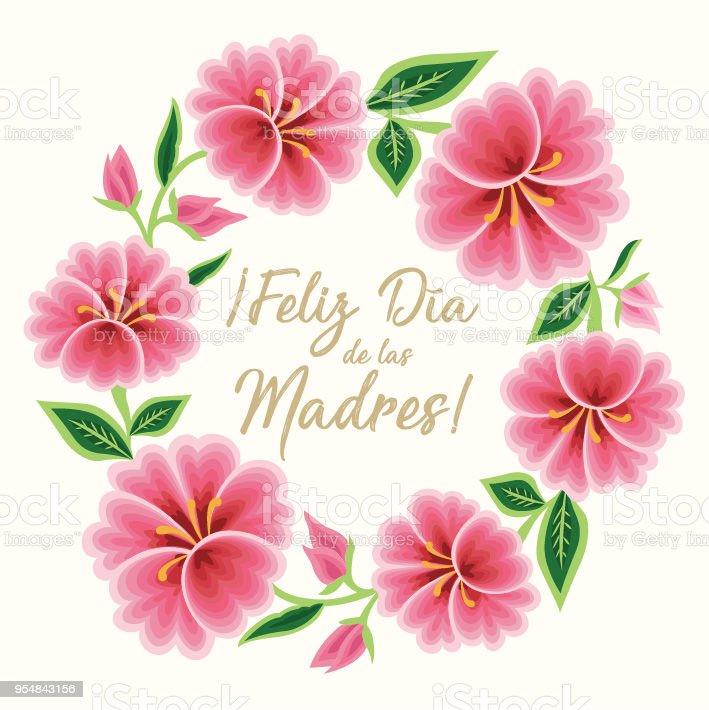 Ilustración De Feliz Día De Las Madres Tarjeta De Felicitación