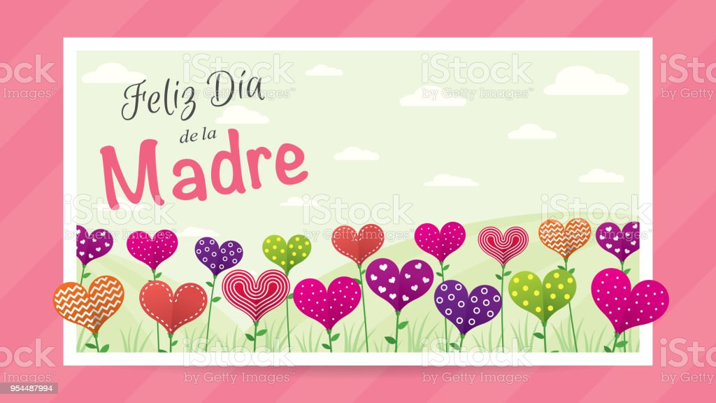 Ilustración de Feliz Dia De La Madre Feliz Día De La Madre En ...