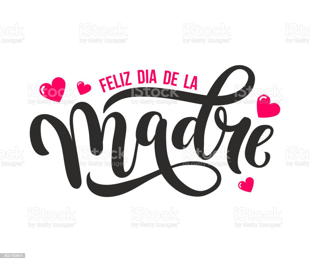 Feliz Dia De La Madre. Mother Day greeting card in Spanish.
