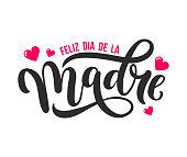 Feliz Dia De La Madre. Mother Day greeting card in Spanish.