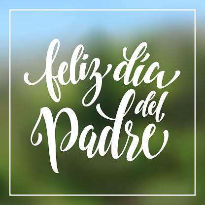 Feliz Dia del Padre Father Day greeting card in Spanish