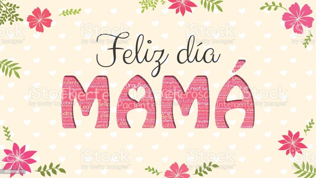 Actividades Manuales De Letrero Pergamino Del D繝箝a De La Madre Es: Feliz Dia Mama Letras