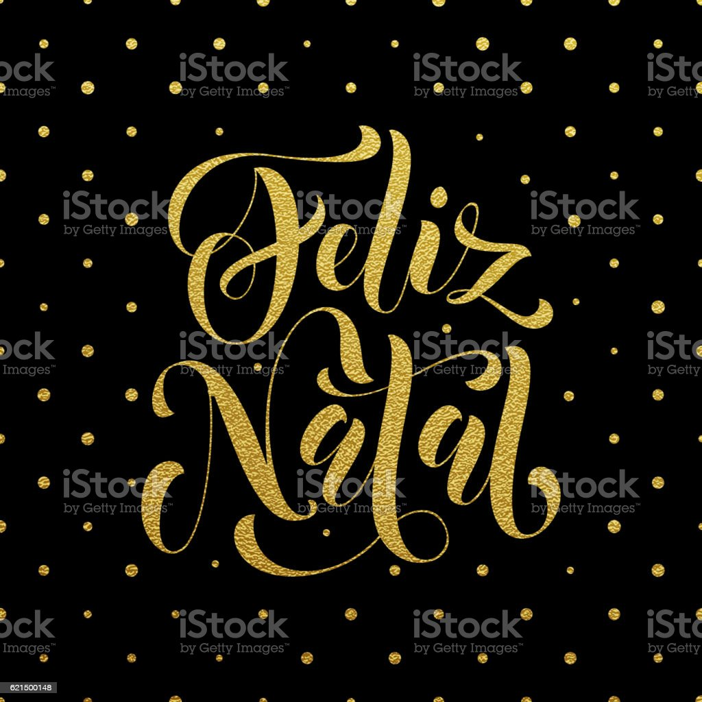 Feliz Natal gold glitter greeting. Portuguese Christmas Lizenzfreies feliz natal gold glitter greeting portuguese christmas stock vektor art und mehr bilder von bildhintergrund