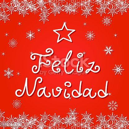 istock Feliz Navidad handwriting greeting card 1192949280