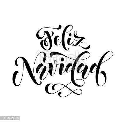 feliz navidad lettering spanish merry christmas stock. Black Bedroom Furniture Sets. Home Design Ideas