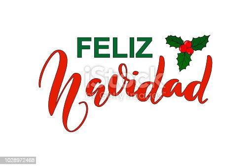 ᐈ Imagen De Frase De Caligrafía Feliz Navidad Merry