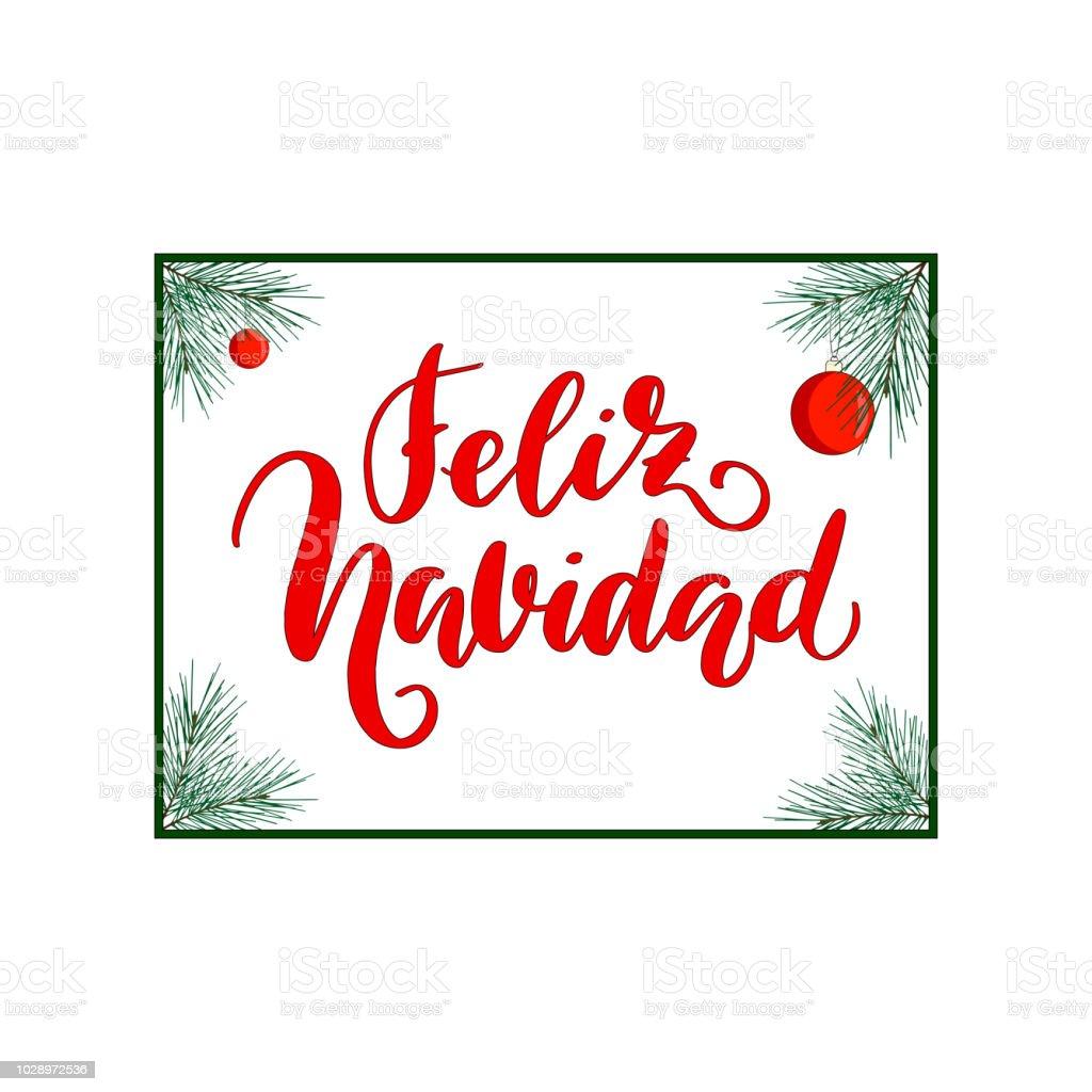 Ilustración De Feliz Navidad Feliz Navidad Caligrafía La Frase En