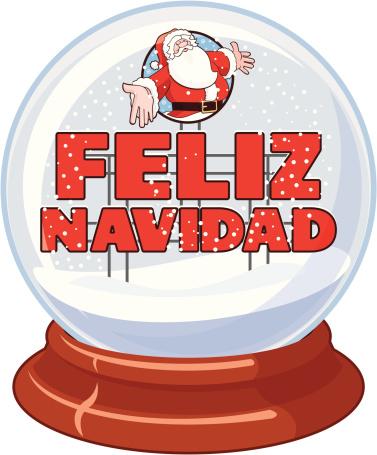 Feliz Navidad Snow Globe