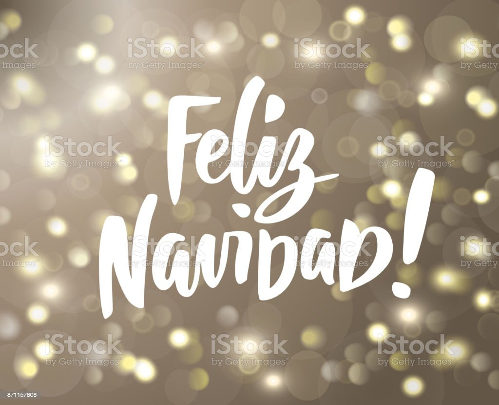 Feliz navidad text holiday greetings spanish quote isolated on white holiday greetings spanish quote isolated on white great for christmas cards m4hsunfo