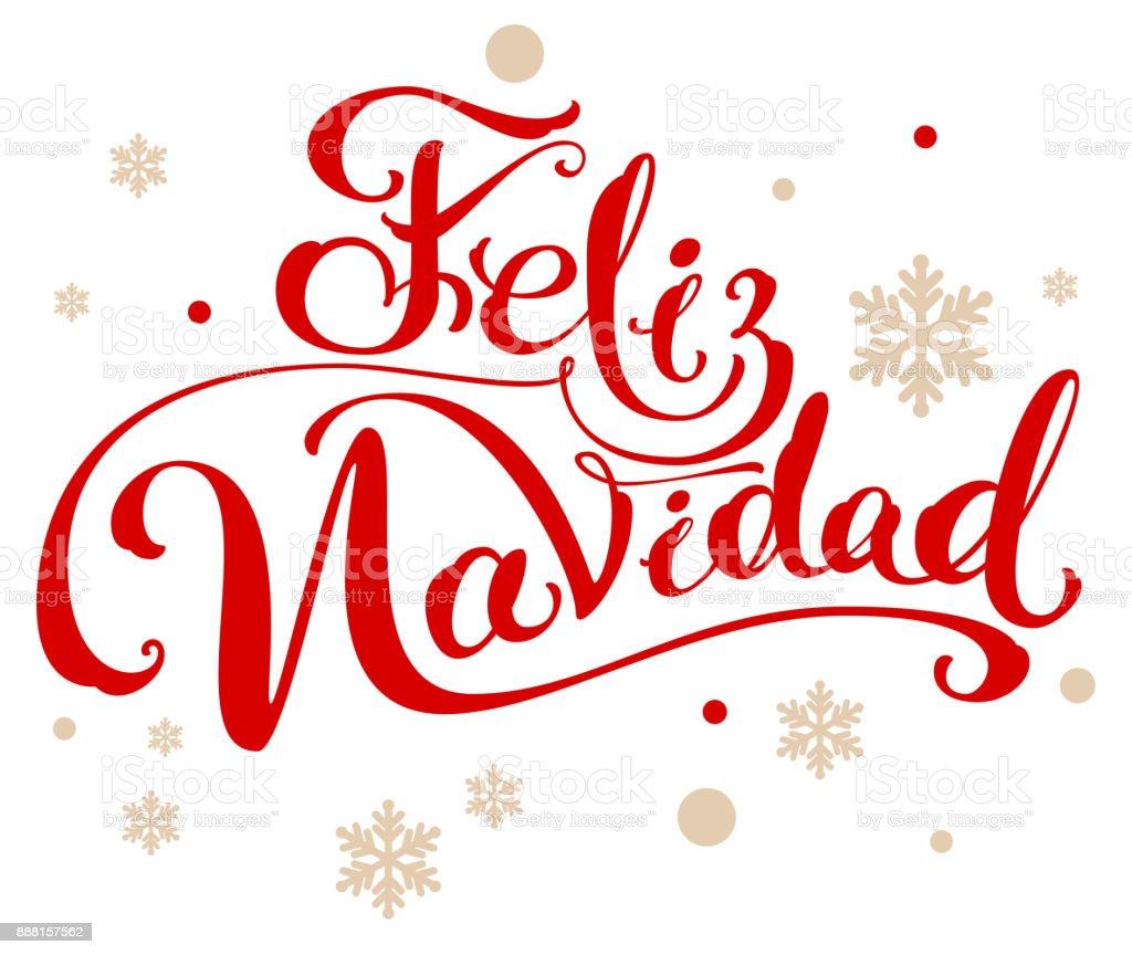 Ilustración De Feliz Navidad Traducción Español Feliz