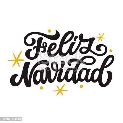 istock Feliz Navidad.Spanish translation: merry Christmas 1346149640