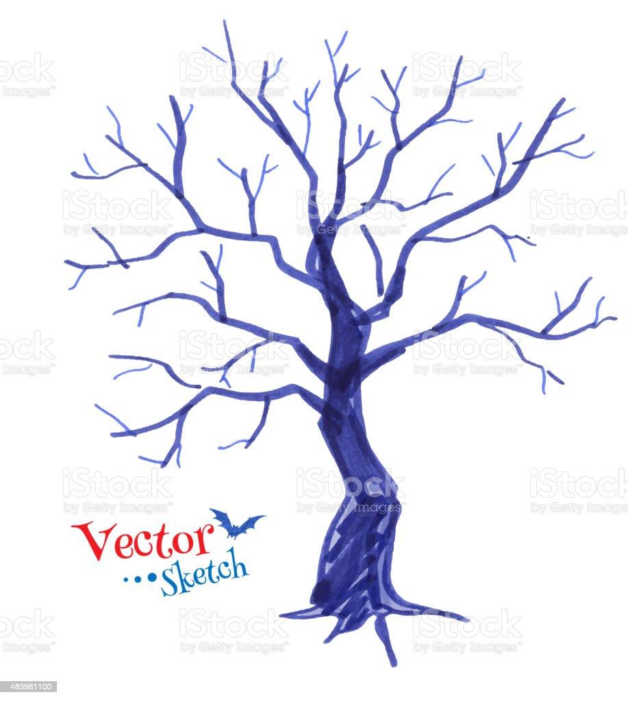 Czuł Pióro Uwalnia Dziecięce Marzenia Rysunek Straszne Drzewa