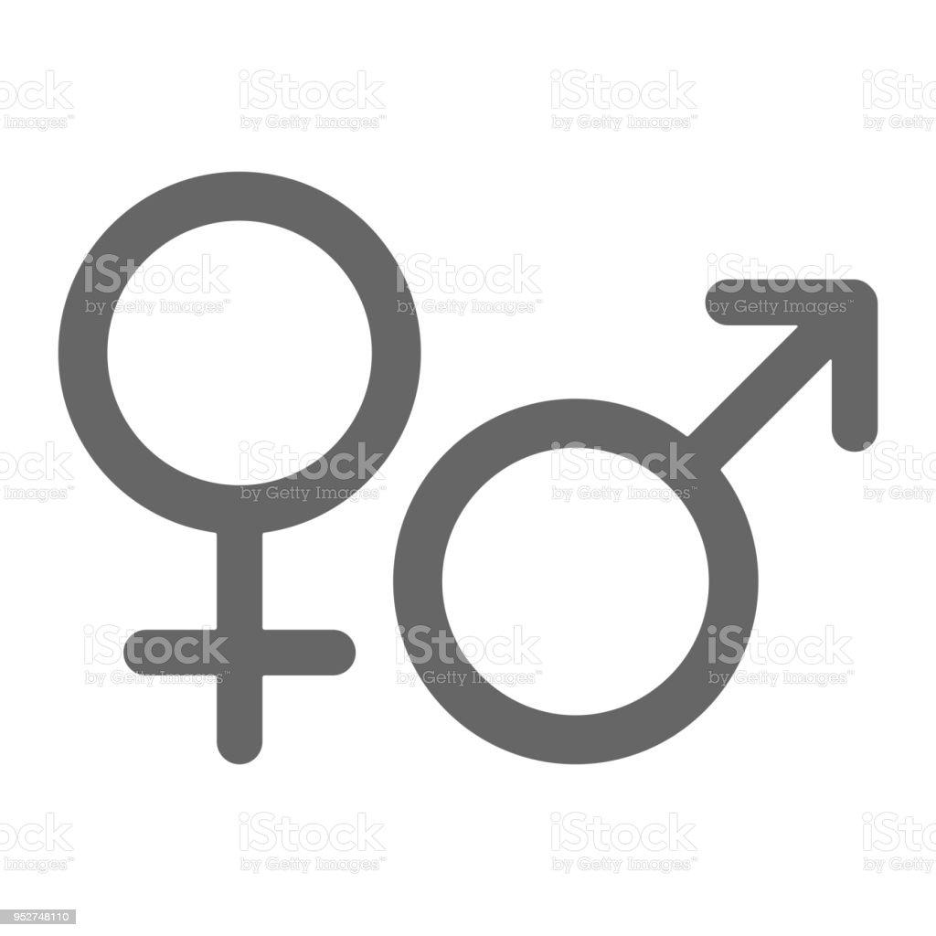 Female and male gender symbols. Vector icon vector art illustration
