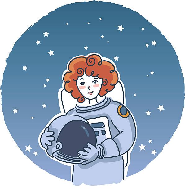 Weibliche astronaut – Vektorgrafik