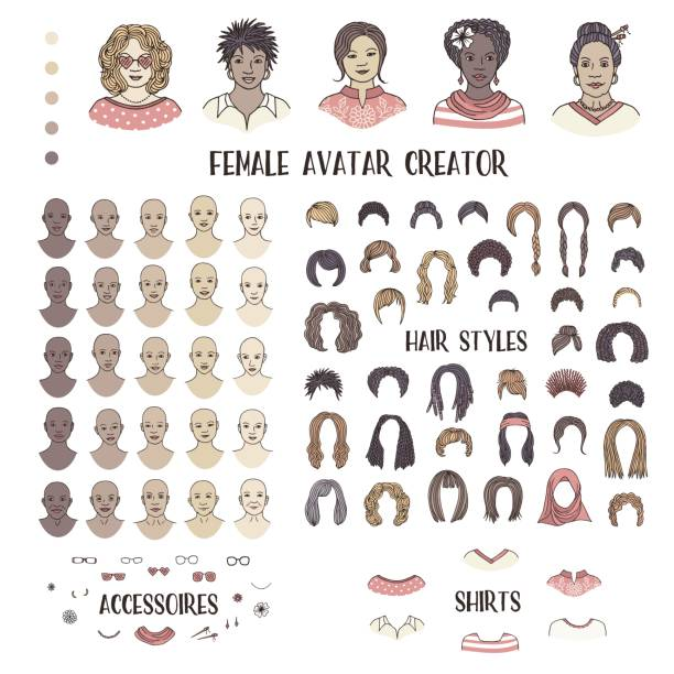 Weibliche Avatar-Schöpferin – Vektorgrafik
