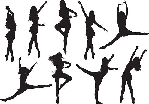 Female ballet dancing