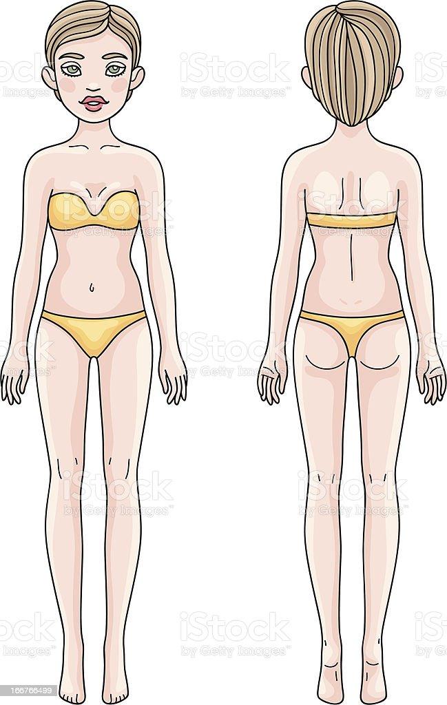 657c281137d4f0 Kobieta ciało z przodu i z tyłu Dziewczyna Europejskiej kobieta ciało z  przodu i z tyłu dziewczyna europejskiej