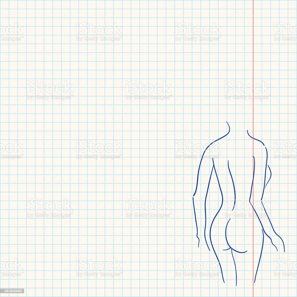 female body sketch stock vector art more images of accuracy