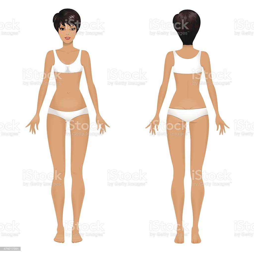 509852e63cfb49 Kobieta ciało wzór z przodu i z tyłu. kobieta ciało wzór z przodu i z tyłu -