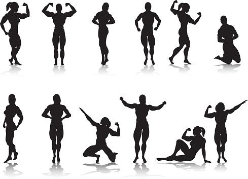 Female Bodybuilder Silhouette Collection