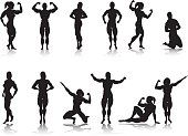 Female Bodybuilder Silhouette Collection