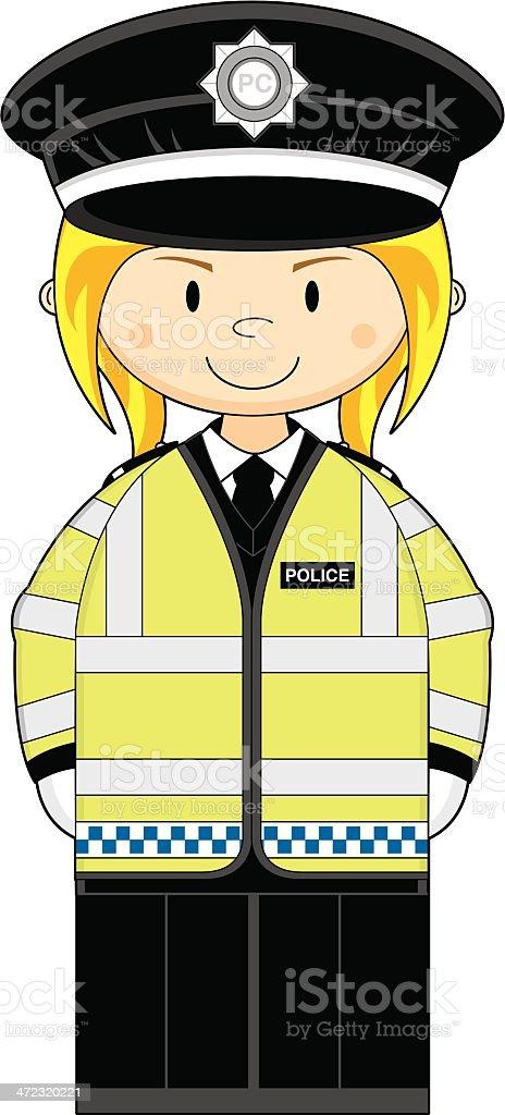 Female British Police Officer royalty-free stock vector art
