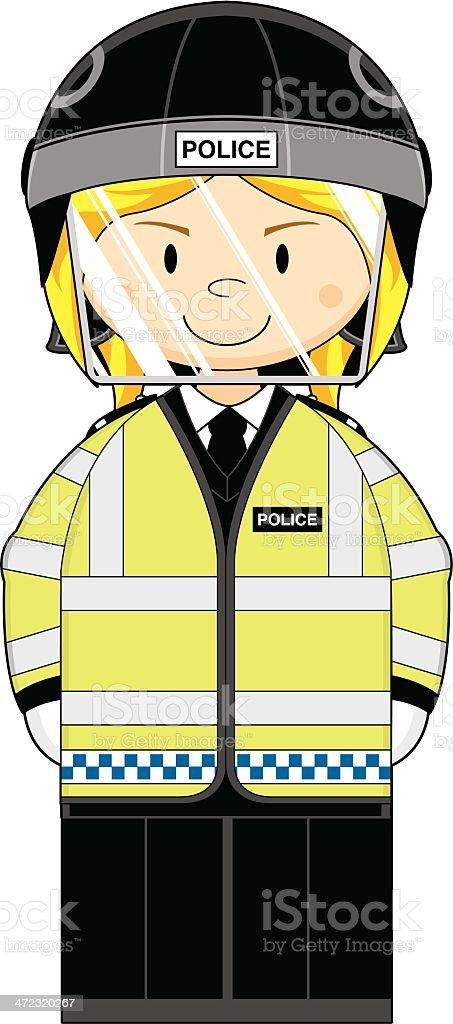 Female British Riot Police Officer royalty-free female british riot police officer stock vector art & more images of belt