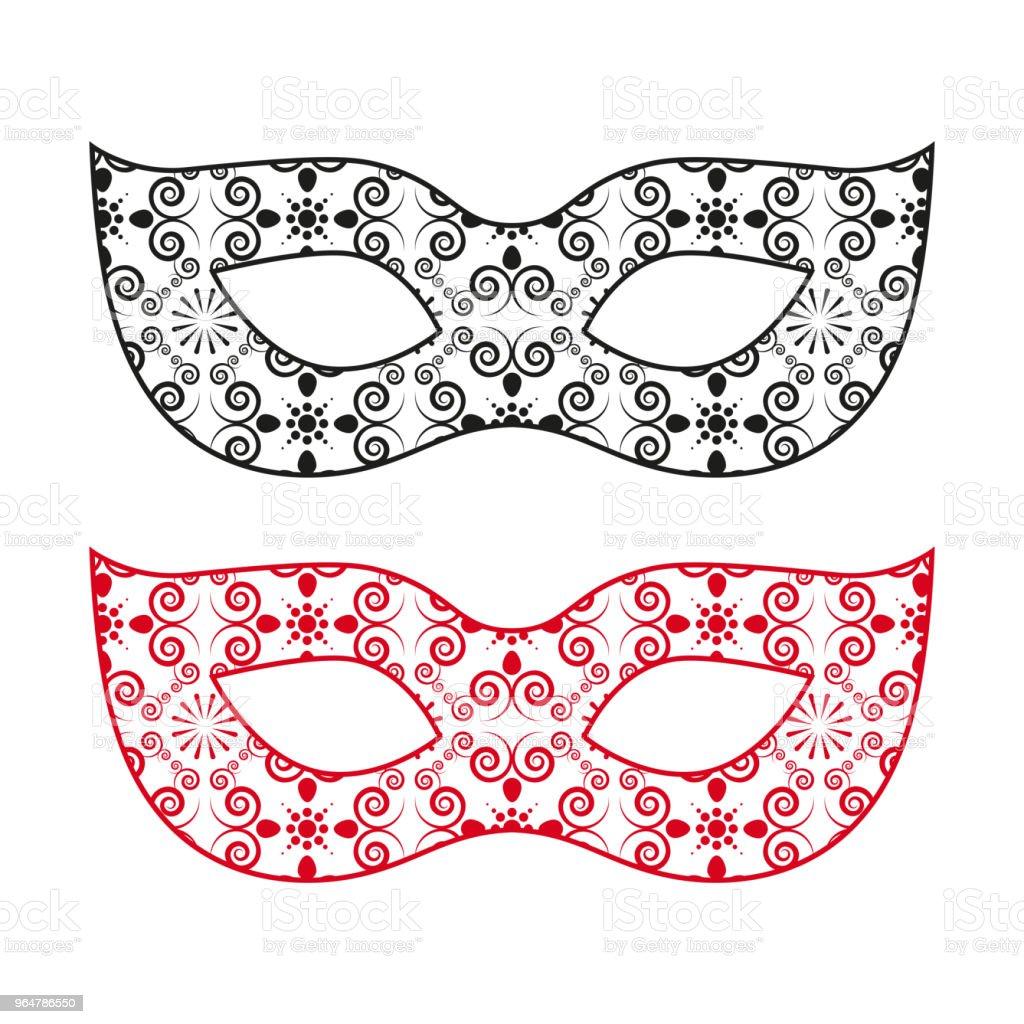 female carnival mask, vector illustration. royalty-free female carnival mask vector illustration stock vector art & more images of beauty