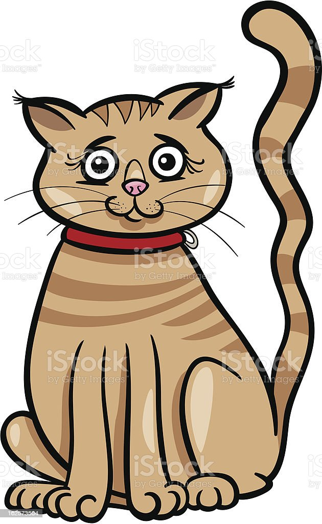 female cat cartoon illustration royalty-free stock vector art