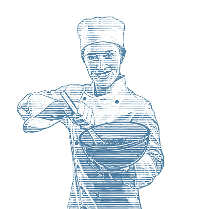 Female Chef cooking food