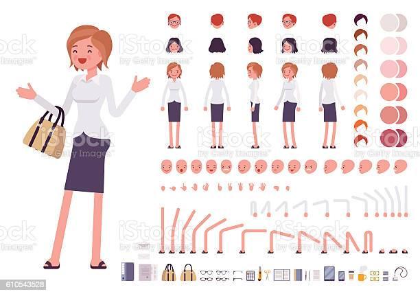Female clerk character creation set vector id610543528?b=1&k=6&m=610543528&s=612x612&h=vosa8i5ovmovkla8ridpmv5thm3x2qf3otpsk8y557g=