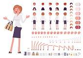 Female clerk character creation set