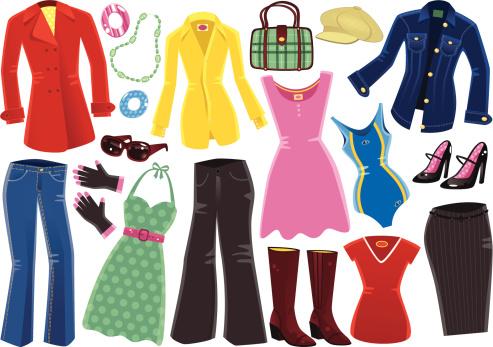 Female clothing items