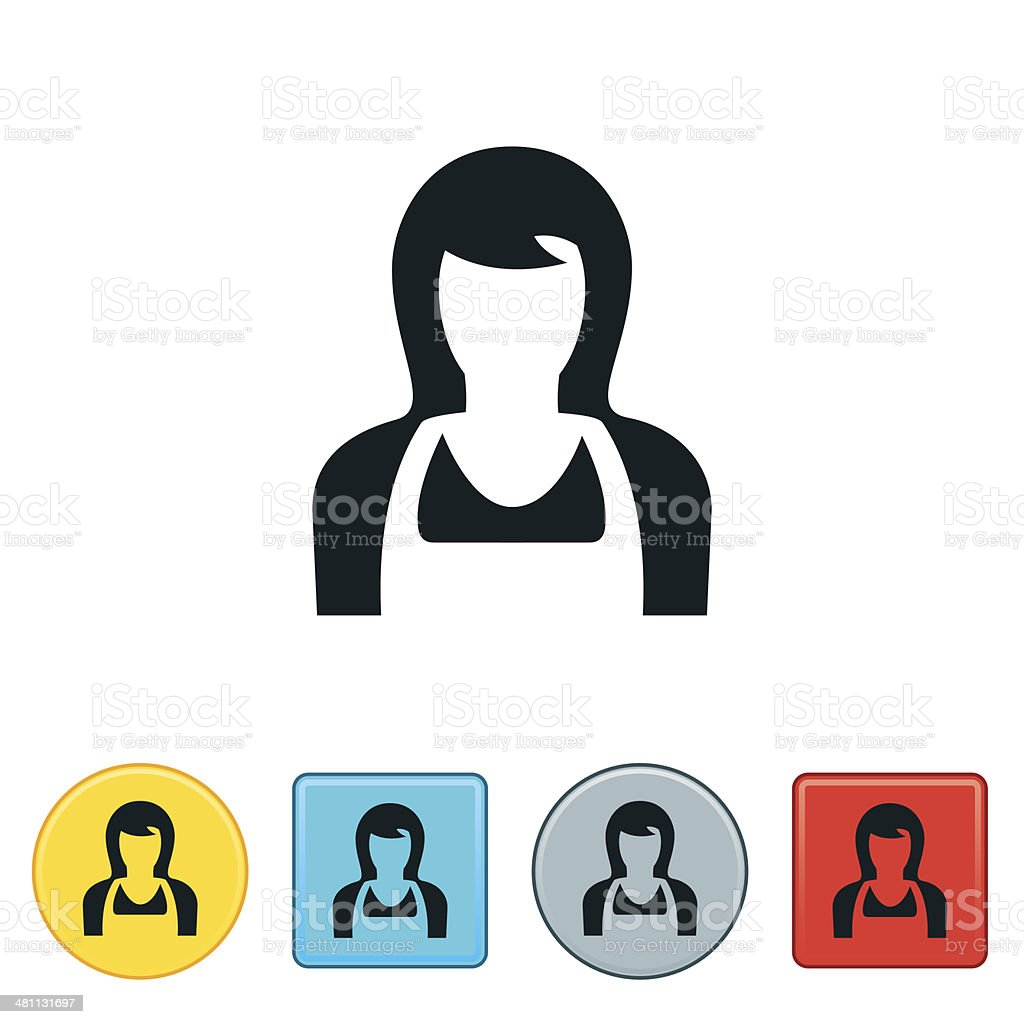 Female Cook Icon vector art illustration