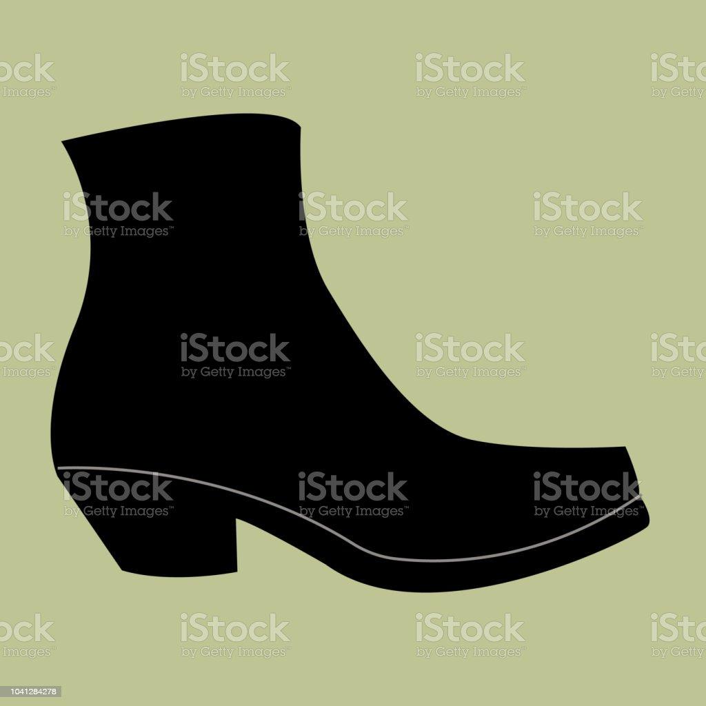 Ilustración de Mujer Bota De Cowboy Botas Negras De Mujer
