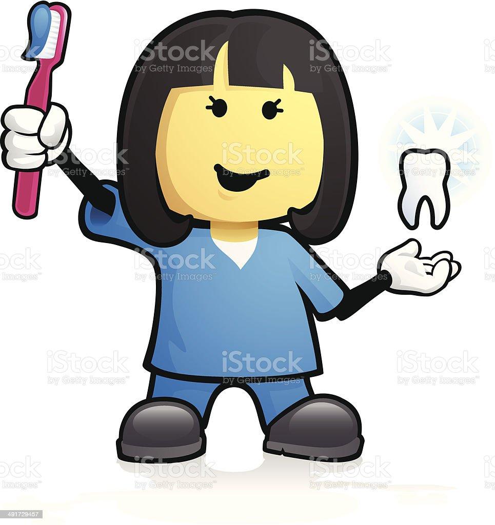Female Dentist royalty-free female dentist stock vector art & more images of adult