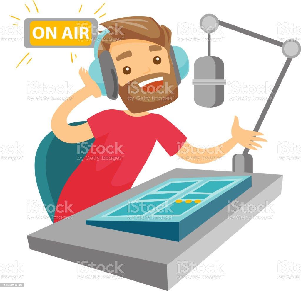 royalty free radio dj clip art vector images illustrations istock rh istockphoto com  journalist writing clipart