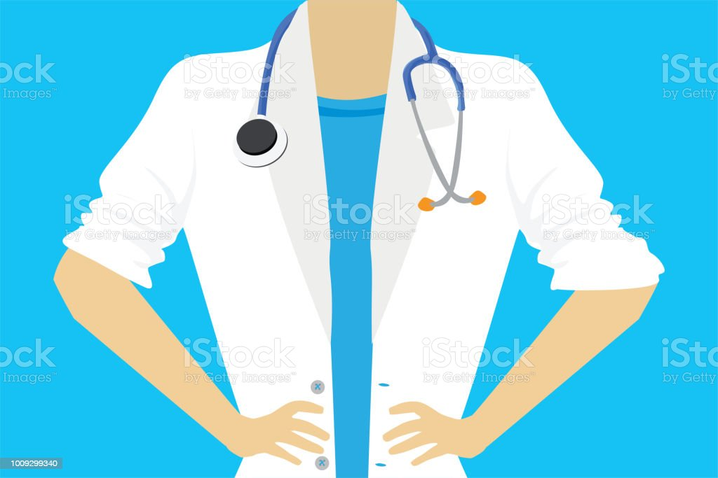 Female doctor or nurse close up - arte vettoriale royalty-free di Accudire