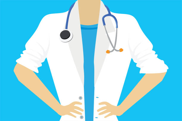 illustrazioni stock, clip art, cartoni animati e icone di tendenza di female doctor or nurse close up - dottoressa