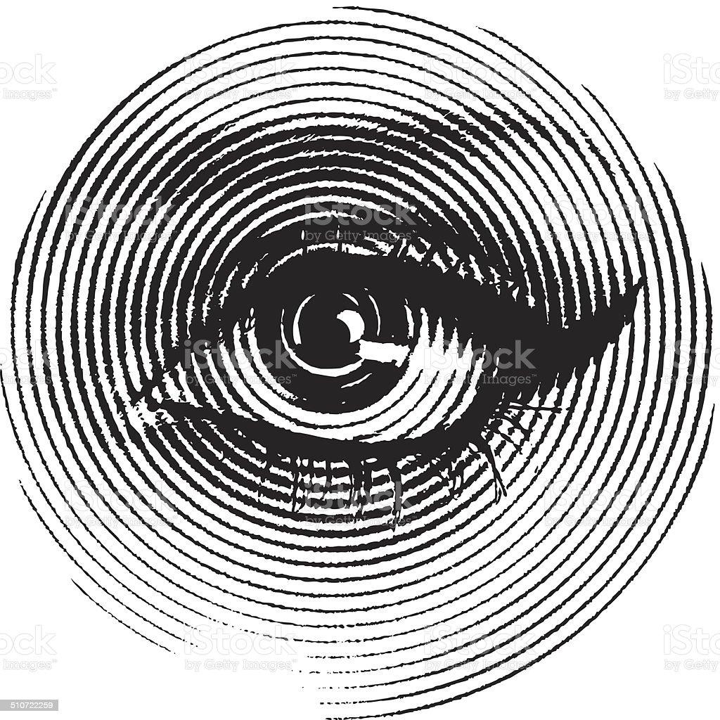 Female Eye Closeup vector art illustration