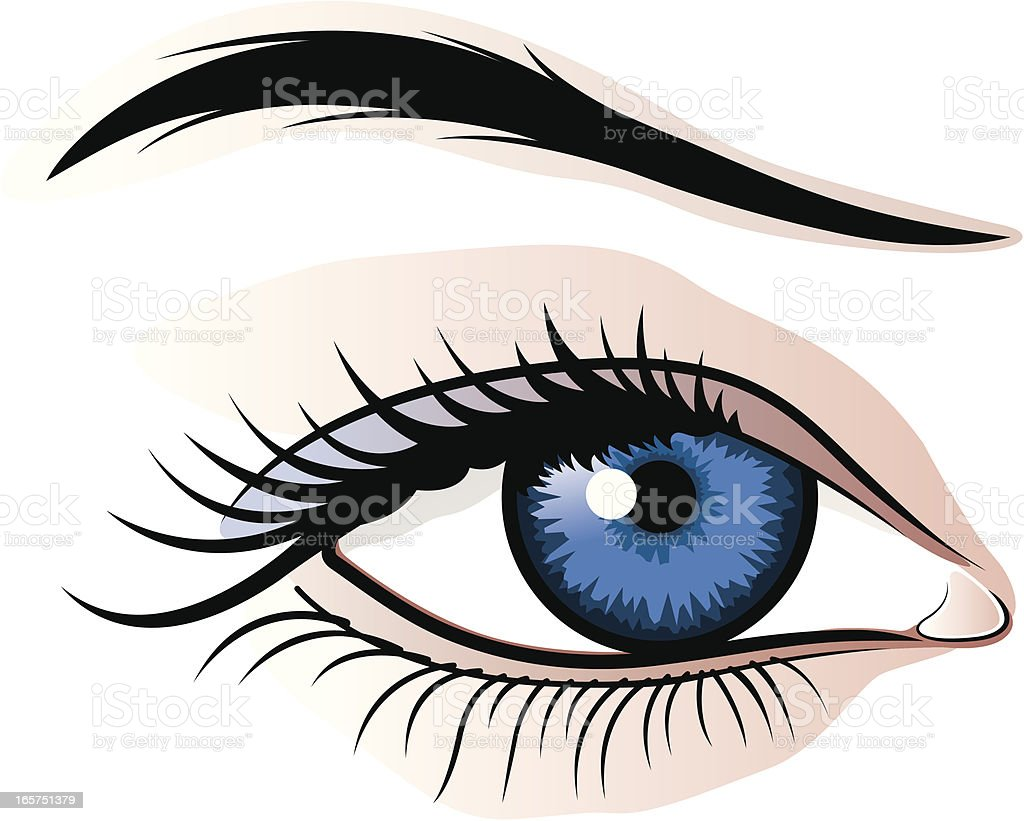 Female eye illustration vector art illustration