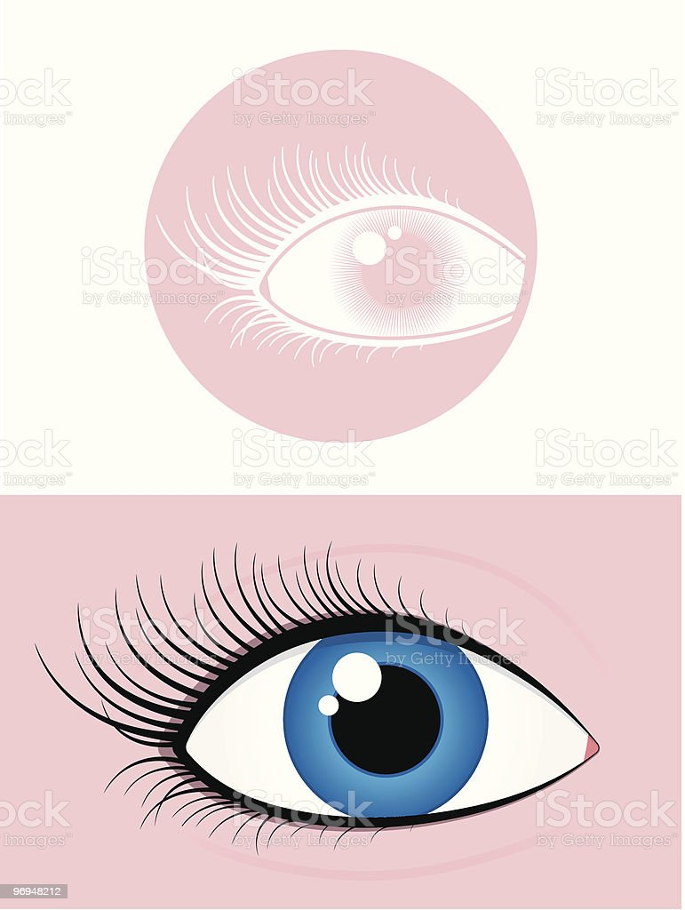 Female eye pictogram royalty-free female eye pictogram stock vector art & more images of blue